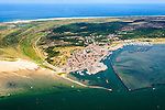 Nederland, Friesland, Terschelling, 05-08-2014;  West-Terschelling, overzicht. Waddenzee in de vorgrond, Noordzee in de achtergrond.<br /> Wadden island Terschelling.<br /> luchtfoto (toeslag op standard tarieven);<br /> aerial photo (additional fee required);<br /> copyright foto/photo Siebe Swart