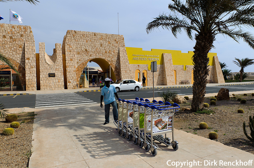 Fligplatz in Rabil, Boa Vista, Kapverden, Afrika