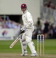 Photo Peter Spurrier.31/08/2002.Cheltenham & Gloucester Trophy Final - Lords.Somerset C.C vs YorkshireC.C..Somerset's Marcus Trescothick (Marron Helmet)