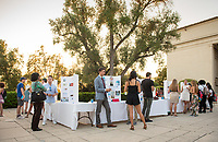 Career Services hosts the Summer Experience Expo, where Occidental College student interns from the InternLA program and INT Internship course shared information about the organizations they worked for over the summer. Sept. 7, 2017 at Thorne Hall patio. Employers were also in attendance.<br /> (Photo by Marc Campos, Occidental College Photographer)