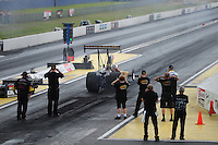 Mar. 9, 2012; Gainesville, FL, USA; NHRA top alcohol dragster driver Bill Reichert during qualifying for the Gatornationals at Auto Plus Raceway at Gainesville. Mandatory Credit: Mark J. Rebilas-