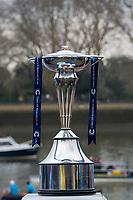 Greater London. United Kingdom, The Boat Race trophy University Boat Races , Cambridge University vs Oxford University. Putney to Mortlake,  Championship Course, River Thames, London. <br /> <br /> Saturday  24/03/2018<br /> <br /> [Mandatory Credit  Intersport Images]
