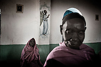 Agok, South Sudan. 20 March 2011...Women at Sunday mass in a church of the village of Agok, the western state of Bahr el Ghazal..