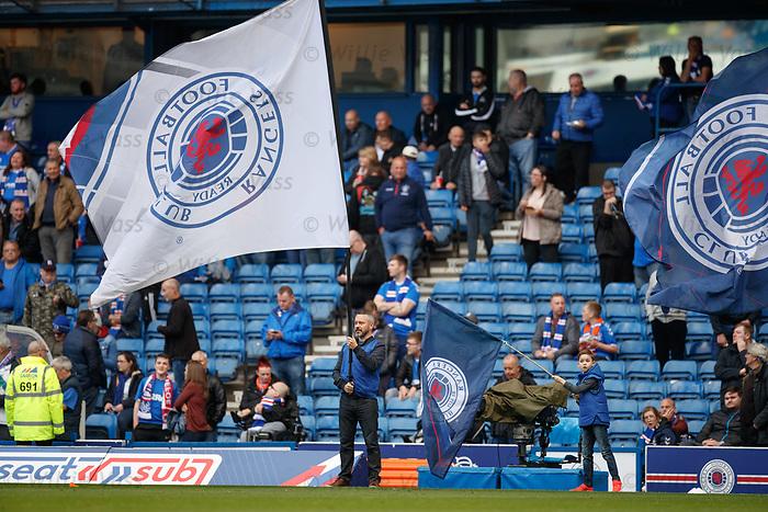 28.09.2018 Rangers v Aberdeen: Rangers flagbearers
