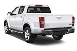 Car pictures of rear three quarter view of a 2015 Isuzu D-Max LSX 4 Door Pickup 2WD Angular Rear