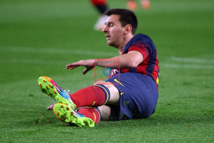 League BBVA 2013/2014 - Game: 34.<br /> FC Barcelona vs Athletic Club: 2-1.<br /> Lionel Messi.