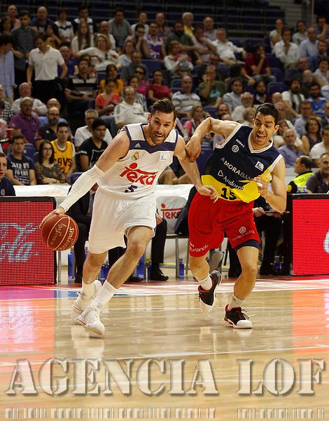 MADRID, ESPAÑA - 25  de Mayo de 2017:  Partido entre el Real Madrid  y Morabanc Andorra, correspondiente al primer partido de PlayOff , disputado en el Wizink Center. (Foto: Eduardo Candel/AGENCIA LOF)