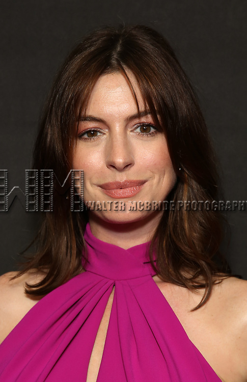 """Anne Hathaway attends the Broadway Opening Night performance of """"Sea Wall / A Life"""" at the Hudson Theatre on August 08, 2019 in New York City."""