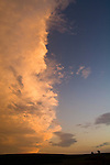Trailing edge of an evening thunderstorm and clouds in the eastern Sand Hills of Nebraska.