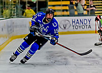 29 December 2018: University of Alabama Huntsville Charger Forward Hans Gorowsky, a Senior from Lino Lakes, MN, in first period action against the Northeastern University Huskies at Gutterson Fieldhouse in Burlington, Vermont. The Huskies shut out the Chargers 2-0 in the Catamount Cup tournament at the University of Vermont. Mandatory Credit: Ed Wolfstein Photo *** RAW (NEF) Image File Available ***