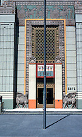 Los Angeles: Sampson Tyre--Ziggurat Entrance. Photo '91.