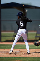 AZL White Sox James Beard (6) at bat during an Arizona League game against the AZL Athletics Gold on July 4, 2019 at Camelback Ranch in Glendale, Arizona. The AZL White Sox defeated the AZL Athletics Gold 6-2. (Zachary Lucy/Four Seam Images)