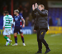 1st December 2019; Global Energy Stadium, Dingwall, Highland, Scotland; Scottish Premiership Football, Ross County versus Celtic; Celtic Manager Neil Lennon applauds the fans after the match - Editorial Use
