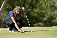 SAN ANTONIO, TX - OCTOBER 30, 2012: The University of Texas at San Antonio Roadrunners host the Alamo Invitational Women's Golf Tournament at the Briggs Ranch Golf Club. (Photo by Jeff Huehn)