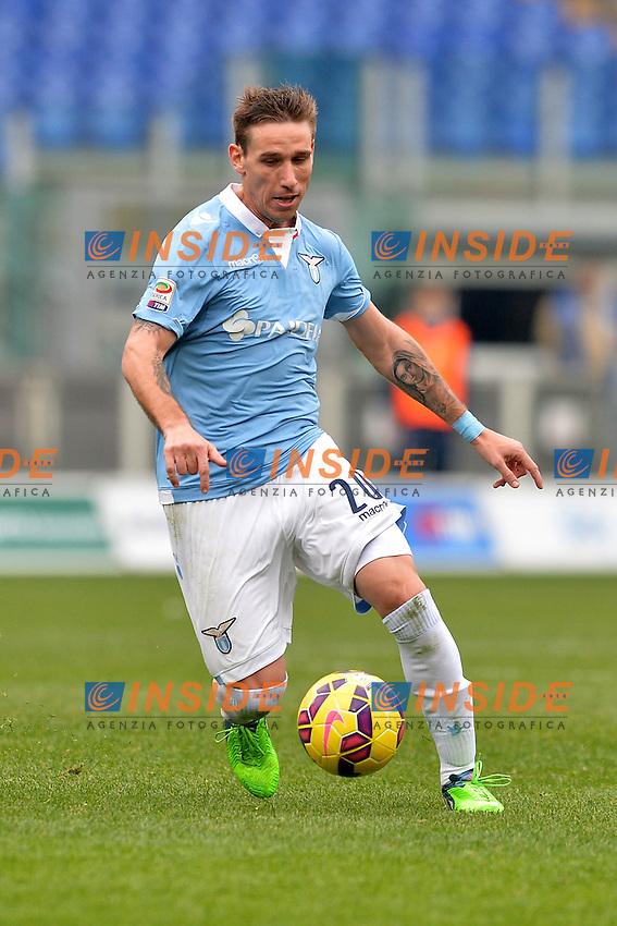 Lucas Biglia Lazio.<br /> Roma 18-01-2015 Stadio Olimpico. Football Calcio 2014/2015 Serie A. Lazio - Napoli. Foto Antonietta Baldassarre / Insidefoto
