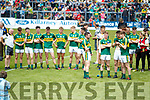 Kerry players celebrate after the Munster Minor Football Final at Fitzgerald Stadium on Sunday.