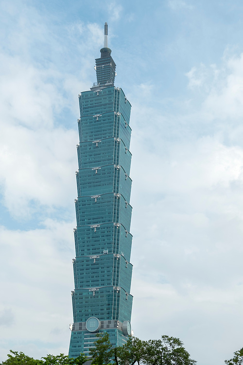 Until 2010, the Taipei 101 Tower of Taiwan was the tallest building on Earth. Its height above ground is 509.2 m. This includes the 60 m spire; the building also holds the record for the highest roof (440 m).