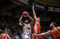 VALENCIA, SPAIN - NOVEMBER 3: Phillip Goss, Rafa Martinez during EUROCUP match between Valencia Basket Club and CAI Zaragozaat Fonteta Stadium on November 3, 2015 in Valencia, Spain