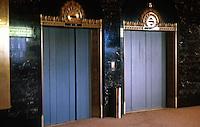 Seattle: Exchange Building, 1930. Elevator doors.  Photo '86.