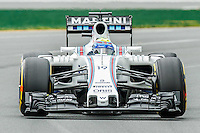 March 18, 2016: Felipe Massa (BRA) #19 from the Williams Martini Racing team rounds turn 2 during practise session one at the 2016 Australian Formula One Grand Prix at Albert Park, Melbourne, Australia. Photo Sydney Low