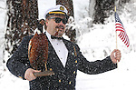 An estimated 500 participants jumped into Lake Tahoe as part of the 8th annual Polar Plunge to benefit Special Olympics at Zephyr Cove, Nev. , on Saturday, March 17, 2012. Many participants wear themed costumes for the event..Photo by Cathleen Allison