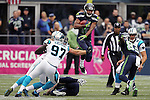 Seattle Seahawks punt return specialist/WR Tyler Lockett (16) returns a punt against the Carolina Panthers  at CenturyLink Field in Seattle on October 18, 2015. The Panthers came from behind with 32 seconds remaining in the 4th Quarter to beat the Seahawks 27-23.  ©2015 Jim Bryant Photography. All Rights Reserved.