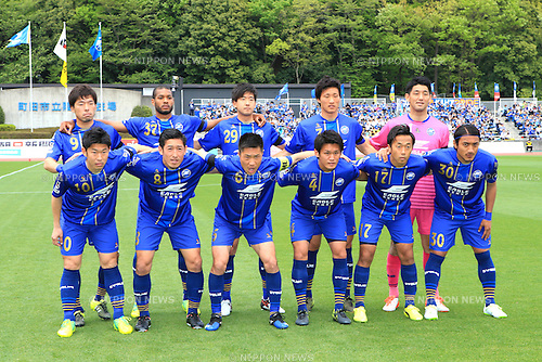 FCFC Machida Zelvia team group line-up<br /> , APRIL 23, 2016 - Football /Soccer : 2016 J2 League match between FC Machida Zelvia 1-0 V.Varen Nagasaki at Machida Stadium, Tokyo, Japan.  (Photo by AFLO SPORT)