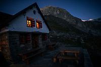 The Turtmann Hut at night, Switzerland