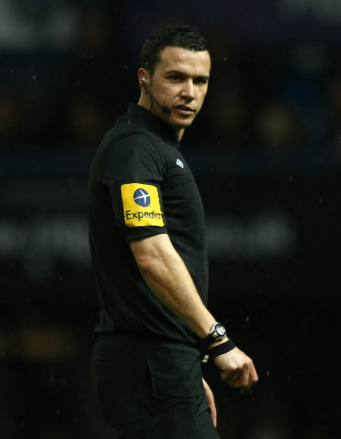 Referee Dean Whitestone ..Football - npower Football League Division One - Portsmouth v Preston North End - Saturday 15th December 2012 - Fratton Park - Portsmouth..
