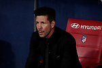 Atletico de Madrid's coach Diego Pablo Simeone during La Liga match between Atletico de Madrid and Getafe CF at Wanda Metropolitano Stadium in Madrid, Spain. August 18, 2019. (ALTERPHOTOS/A. Perez Meca)