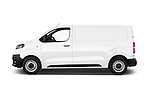 Car Driver side profile view of a 2016 Toyota Proace Comfort 4 Door Cargo Van Side View
