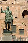 Bronze Statue of Trajan Via dei Fora Imperiali Modern Copy of Ancient Roman Statue Rome