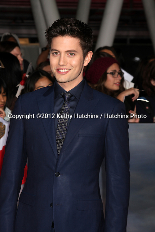 """LOS ANGELES - NOV 12:  Jackson Rathbone arrive to the 'The Twilight Saga: Breaking Dawn - Part 2"""" Premiere at Nokia Theater on November 12, 2012 in Los Angeles, CA"""