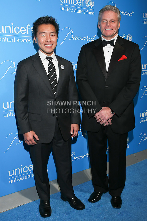 Interior designer Vern Yip, and Baccarat CEO Michael Bellevue arrive at the UNICEF Snowflake Ball, Presented by Baccarat, at Cipriani 42nd Street, November 30, 2010.