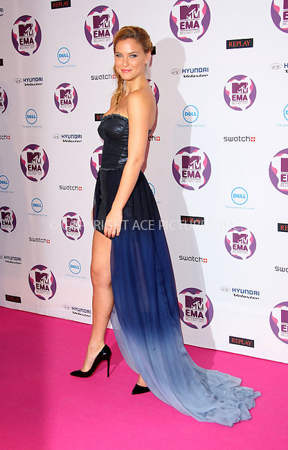 WWW.ACEPIXS.COM . . . . .  ..... . . . . US SALES ONLY . . . . .....November 6 2011, Belfast....Bar Refaeli arriving at the MTV Europe Music Awards at the Odyssey Arena on November 6 2011 in Belfast....Please byline: FAMOUS-ACE PICTURES... . . . .  ....Ace Pictures, Inc:  ..Tel: (212) 243-8787..e-mail: info@acepixs.com..web: http://www.acepixs.com