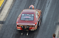 Jun. 29, 2012; Joliet, IL, USA: NHRA pro stock driver Warren Johnson during qualifying for the Route 66 Nationals at Route 66 Raceway. Mandatory Credit: Mark J. Rebilas-