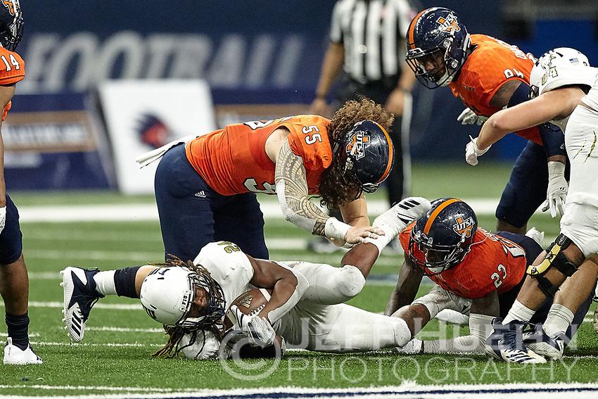 SAN ANTONIO, TX - NOVEMBER 10, 2018: The University of Texas at San Antonio Roadrunners fall to the Florida International University Panthers 45-7 in the Alamodome. (Photo by Jeff Huehn)