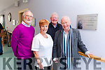 A plaque with a verse from poet Brendan Kennelly was unveiled in the Ard Cúram Day Care Centre Listowel on Thursday morning. Pictured were: Mike Moriarty, Margaret Payne, Finbarr Mawe and Brendan Kennelly.