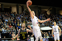 GRONINGEN - Basketbal, Donar - Telenet Giants Antwerp, Martiniplaza,  Europe Cup, seizoen 2017-2018, 06-12-2017,  Donar speler Evan Bruinsma