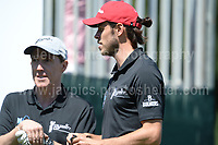 Tv personality Rob Brydon and International footballer Gareth Bale during The 2017 Celebrity Cup golf tournament at the Celtic Manor Resort, Newport, South Wales. 1.07.2017 <br /> <br /> <br /> Jeff Thomas Photography -  www.jaypics.photoshelter.com - <br /> e-mail swansea1001@hotmail.co.uk -<br /> Mob: 07837 386244 -