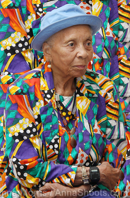 Dr Margaret Burroughs is an internationally renowned African-American artist, poet, educator and arts organizer -- in this photograph she was 92 years old.