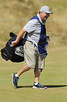 Geoff working hard for Pedro Oriol (ESP) on the 6th hole during Friday's Round 2 of the 2018 Dubai Duty Free Irish Open, held at Ballyliffin Golf Club, Ireland. 6th July 2018.<br /> Picture: Eoin Clarke | Golffile<br /> <br /> <br /> All photos usage must carry mandatory copyright credit (&copy; Golffile | Eoin Clarke)