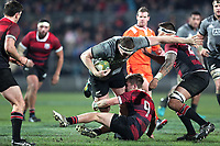 Brodie Retallick in action during the Game of Three Halves between the NZ All Blacks and Canterbury at AMI Stadium in Christchurch, New Zealand on Friday, 10 August 2018. Photo: Martin Hunter / lintottphoto.co.nzz
