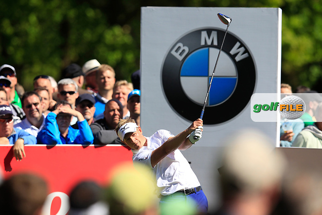 Luke Donald (ENG) during round 1 of the 2015 BMW PGA Championship over the West Course at Wentworth, Virgina Water, London. 21/05/2015<br /> Picture Fran Caffrey, www.golffile.ie: