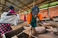 Dativa, Brick-Maker, Kayona, Rwanda, 2014<br /> Women's livelihoods provide much more than financial gain. Work can offer women a sense of place, purpose, and community, especially in war-torn countries. Rwanda has been struggling to rebuild itself since the end of its horrific period of genocide, and working together is a part of that healing process. These women earn a penny for each brick they make in this factory.
