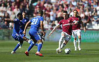 West Ham United's Declan Rice<br /> <br /> Photographer Rob Newell/CameraSport<br /> <br /> The Premier League - West Ham United v Leicester City - Saturday 20th April 2019 - London Stadium - London<br /> <br /> World Copyright © 2019 CameraSport. All rights reserved. 43 Linden Ave. Countesthorpe. Leicester. England. LE8 5PG - Tel: +44 (0) 116 277 4147 - admin@camerasport.com - www.camerasport.com