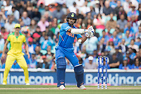 Shikhar Dhawan (India) prepares to cut Nathan Coulter-Nile (Australia) during India vs Australia, ICC World Cup Cricket at The Oval on 9th June 2019
