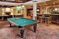 Entertainment Room With Billiards and Fooseball