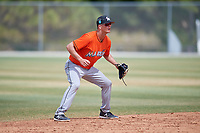 Miami Marlins Micah Brown (41) during a Minor League Spring Training game against the St. Louis Cardinals on March 26, 2018 at the Roger Dean Stadium Complex in Jupiter, Florida.  (Mike Janes/Four Seam Images)