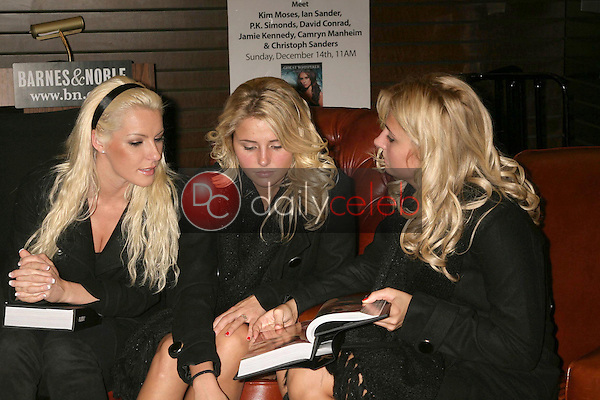 Crystal Harris with Kristina Shannon and Karissa Shannon <br /> at an in store appearance by Hugh Hefner signing copies of his books 'Mr. Playboy' and 'Playboy The Complete Centerfolds'. Barnes and Noble the Grove, Los Angeles, CA. 12-16-08<br /> Dave Edwards/DailyCeleb.com 818-249-4998